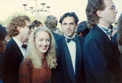 Olin with Patricia Wettig on the red carpet at the 41st Annual Emmy Awards in 1989