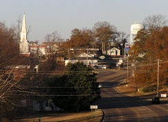 Philadelphia, Mississippi seen from the east end of town.