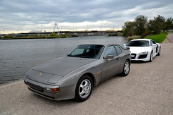 1987–1988 Porsche 944S, with the 16-valve DOHC engine (this example is equipped with 5-spoke wheels used on the 964)