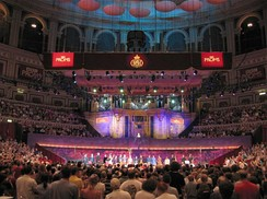 The Royal Albert Hall, pictured during The Proms, is a concert hall.