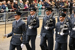 Members of the RAF Regiment on parade, 2013