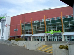 Save-On-Foods Memorial Centre is an indoor ice hockey arena in Victoria. It is the home arena for the WHL's Victoria Royals.