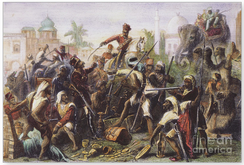 A scene from the 1857 Indian Rebellion