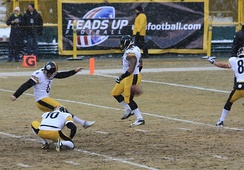 Suisham on a field goal attempt in 2013.