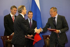 Signing of the Russian-Norwegian Treaty, 15 September 2010