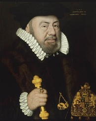 Sir Nicholas Bacon, one of the Commissioners named in the charter of 1571