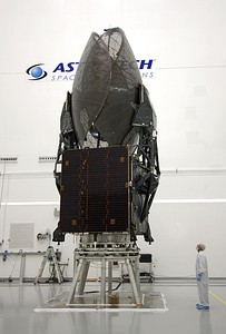TDRS-K prior to launch at Kennedy Space Center.