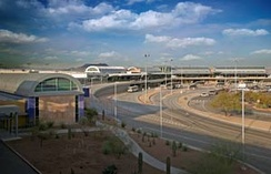 Tucson International Airport when it was under renovation