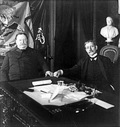 Root with William Howard Taft in 1904.