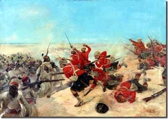 The battle of Tel el-Kebir in 1882 during the Anglo-Egyptian War