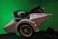 The motorcycle with a sidecar used by Hagrid and Harry in the film