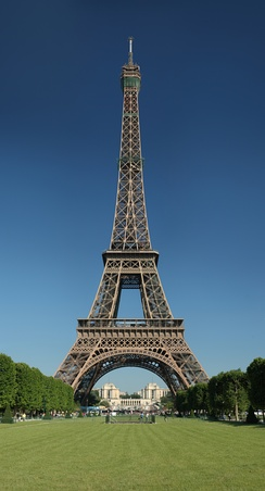 The Eiffel Tower in Paris is a historical achievement of structural engineering.