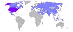 Countries visited by Nixon during his presidency.