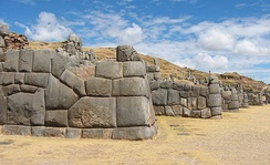 Ashlar polygonal masonry at Sacsayhuamán