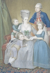 Willem V and Wilhelmina with their children Louise, William, and Frederick