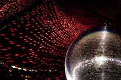 The reflective light disco ball was a fixture on the ceilings of many discothèques