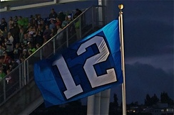 The 12th Man flag of the Seattle Seahawks