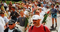 Participants at the last day of the 1997 Four Day Marches