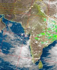 Live satellite images such as this are decoded by amateur radio operators to provide accurate weather reports during heavy rains in cities prone to flooding such as Mumbai.