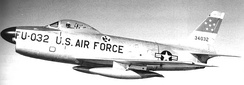 323d Fighter-Interceptor Squadron F-86D Sabre 53-4032 at Larson AFB 1954