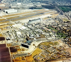 Aerial View of NAS Moffett Field and NASA Ames Research Center