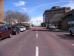 Several streets around Amarillo's downtown area are still paved with bricks.