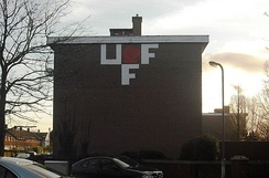 Ulster Freedom Fighters insignia continues to be displayed in the Annadale Flats area, January 2012