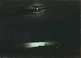 Archip Kuindshi, Night on the Dnieper River, 1882
