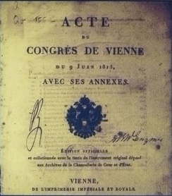 Frontispiece of the Acts of the Congress of Vienna.