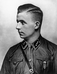 "Goebbels used the death of Horst Wessel (pictured) in 1930 as a propaganda tool[82] against ""Communist subhumans"".[83]"