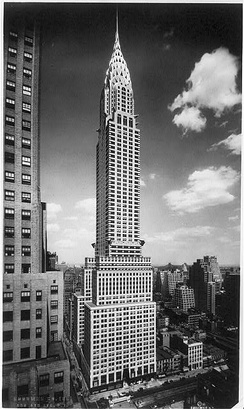 The Art Deco Chrysler Building in New York City was the company headquarters from 1930 until the mid-1950s.