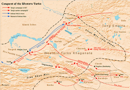 Tang Dynasty's conquest of Western Turks (Tujue) Khanate