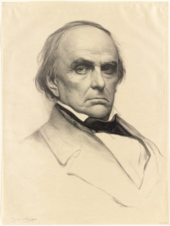 Daniel Webster (1897 portrait print), with whom Davis feuded