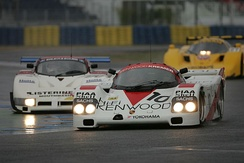Derek Bell racing in the Group C support race at the 2012 Le Mans