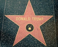 Trump's star on the Hollywood Walk of Fame, installed in 2007