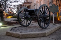 The double-barreled cannon prototype located in Athens, Georgia