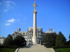 The First Division Monument located in President's Park, Washington, D.C.