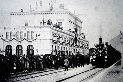 Inauguration in 1882 of the Gotthard Rail Tunnel connecting the southern canton of Ticino, the longest in the world at the time