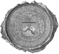The seal of the Diocese of Turku during the 16th and 17th centuries featured the finger of St Henry. The post-Reformation diocese included the relic of a pre-Reformation saint in its seal.