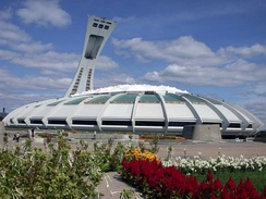 The Olympic Stadium was built for the 1976 Summer Olympics in Montreal. It is presently used by MLS's Montreal Impact for select games.