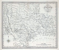 Map of the Republic of Texas and the Adjacent Territories by C.F. Cheffins, 1841