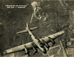 94th Bomb Group B-17 Flying Fortress targeting the Focke-Wulf factory as described.