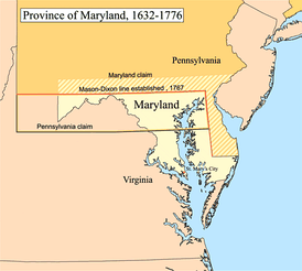 Province of Maryland, 1632–1776