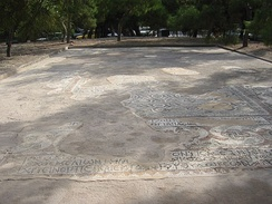 Mosaic floor of a Jewish Synagogue Aegina (300 BCE).