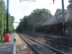 The Mountain Avenue station in Montclair, the only one of the five stations not built in 1872 by the New York & Greenwood Lake
