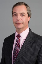 Nigel Farage, British MEP, former leader of the UK Independence Party, and current leader of the Brexit Party