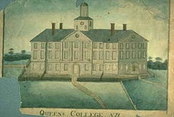 In the early 19th century, Old Queens (built 1809–1823) housed three institutions: the seminary, Rutgers College, the college's grammar school.