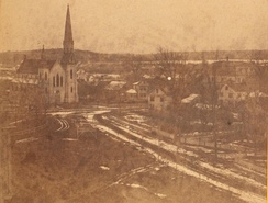 Panorama of Holliston, ca. 1875