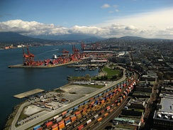 The Port of Vancouver is the largest port in Canada, and the third largest port in the Americas (by tonnage).