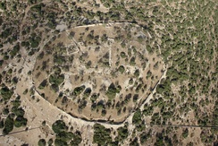 Aerial view of Khirbet Qeiyafa.